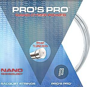 Pro's Pro Tennissaite 12 m Polyester Nano Cyber Power weiß 1,25 mm