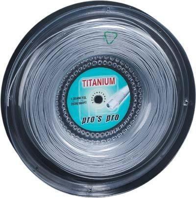 Pro's Pro Tennissaite 200 m Synthetik Titanium 1,35 mm silber