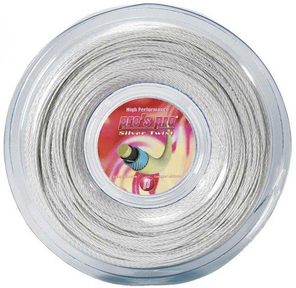 Pro's Pro Tennissaite 200 m Synthetik Silver Twist 1,33 mm silber-spiral