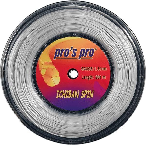 Pro's Pro 200-m-Tennissaite Ichiban Spin 1,26 mm silber Deutsche Polyestersaite profiliert