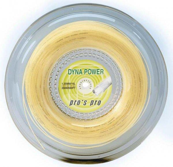 Pro's Pro Tennissaite 200 m Synthetik Dyna Power natur 1,25 mm