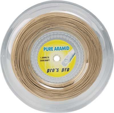 Pro's Pro Tennissaite 200 m multifil Pure Aramid 1,10 mm Aramid-Fasern ocker