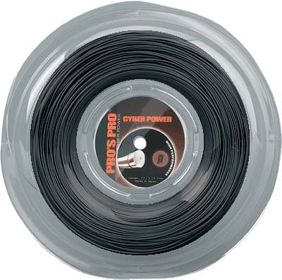 Pro's Pro Tennissaite 200 m Polyester Cyber Power schwarz 1,25 mm