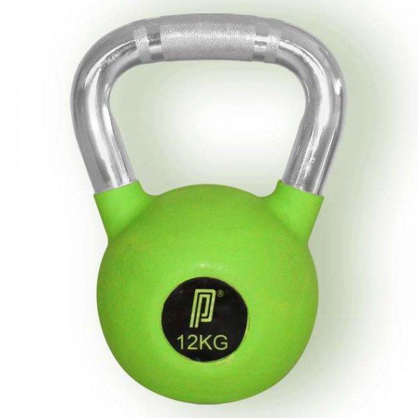 Pro's Pro Rubber Kettlebell 12 kg grün° Gummibeschichtung