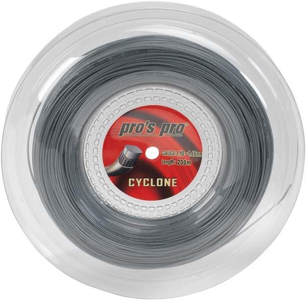 Pro's Pro Tennissaite 200 m Synthetik Cyclone silber rechteckig