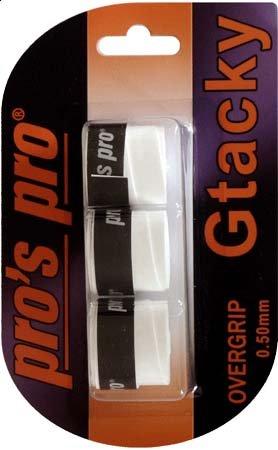 Pros Pro Gtacky Griffband 0,5mm Saugfaehig Vibrationsdaempfend 3er Weiss