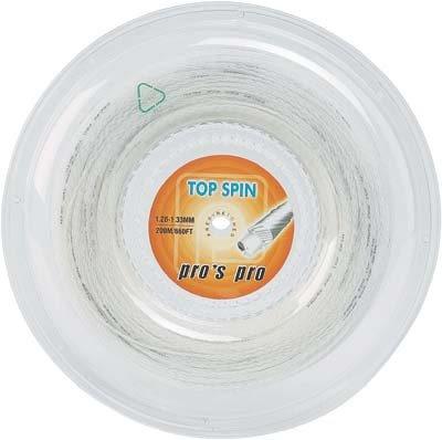 Pro's Pro Tennissaite 200 m Synthetik Top Spin 1,28-1,33 mm weiss
