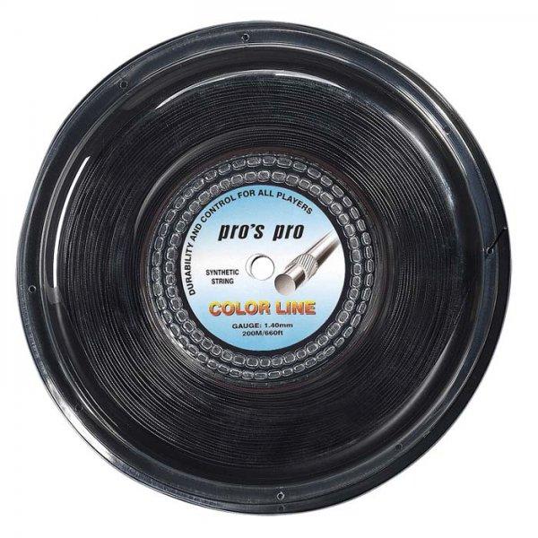 Pro's Pro Tennissaite 200 m Synthetik Color Line schwarz 1,40 mm