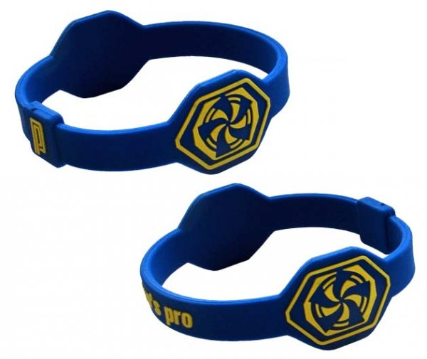 Pro's Pro Power Band No. 1 blau/gelb Armband Silikon
