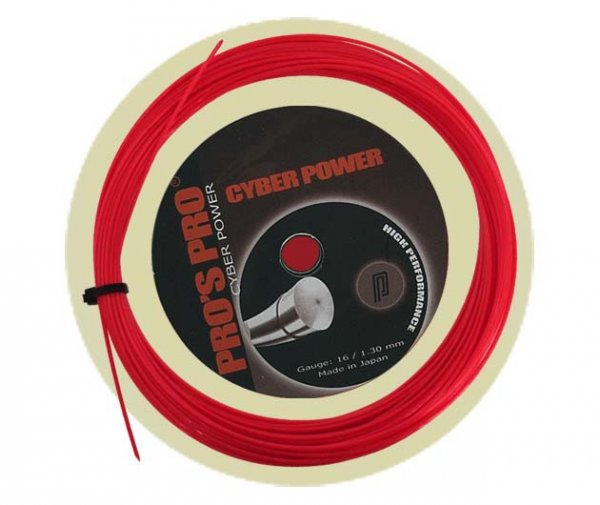 Pro's Pro Tennissaite 12 m Polyester Cyber Power rot 1,25 mm