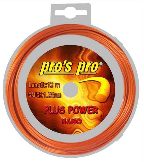 Pros Pro Deutsche Polyester Tennissaite Plus Power 12 m 1,28 mm orange