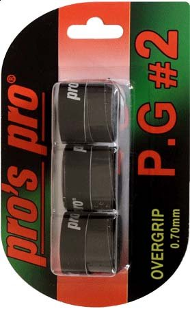 Pro's Pro P.G. 2 Griffband griffig tacky perforiert 0,7 mm 3er Packung schwarz