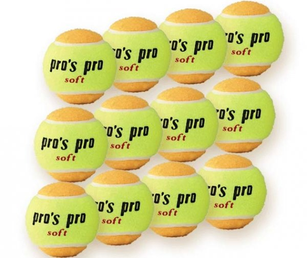 Pro's Pro Soft Tennisbälle für Kinder 12er gelb-orange