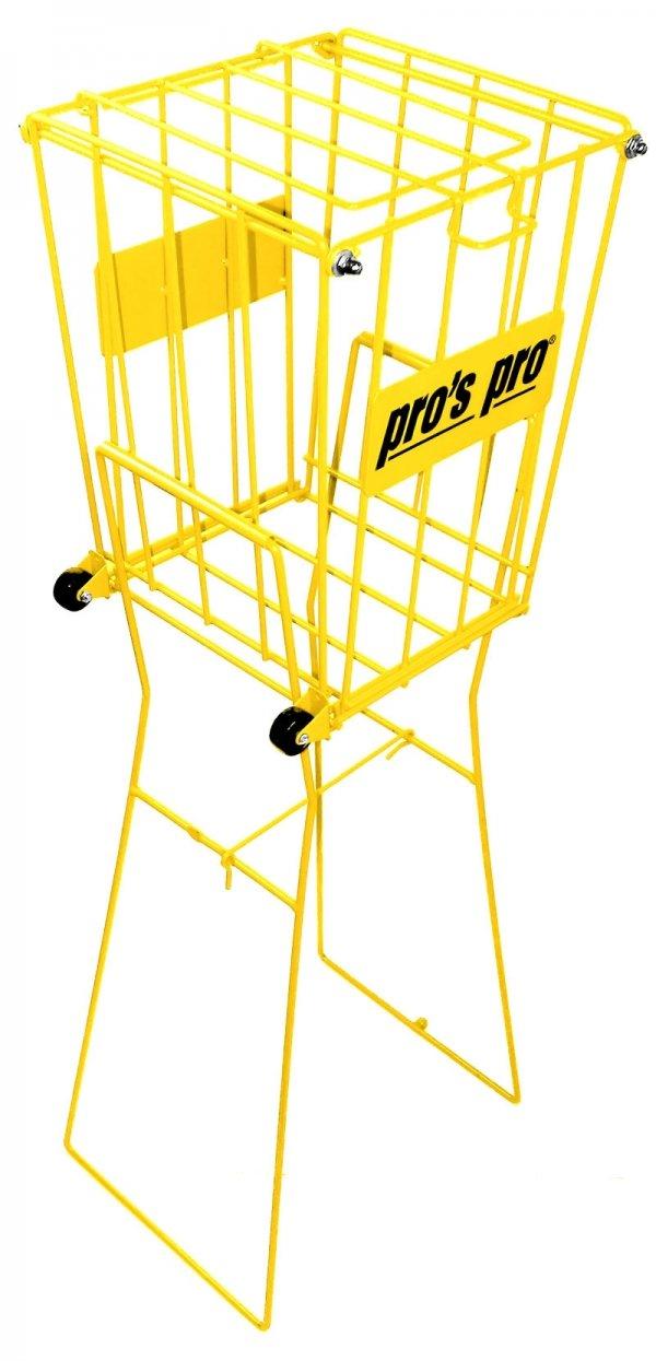 Pros Pro Ballkorb mit Rädern gelb