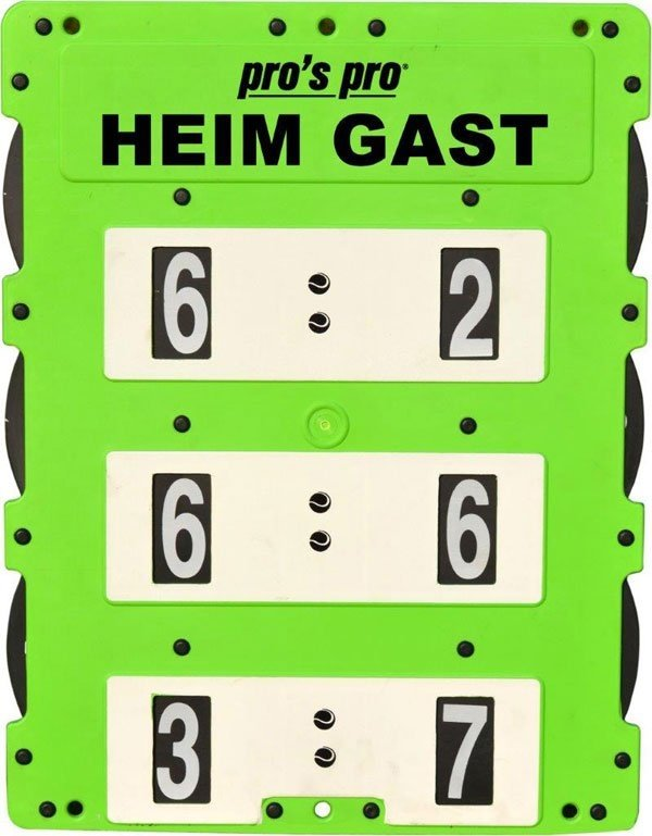Pros Pro Spielstandanzeiger 60 x 46 cm grün - weiß