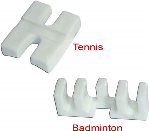 Tennis- & Badmintonadapter weiß