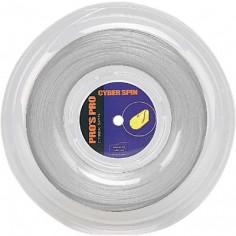 Pro's Pro Tennissaite 200 m Polyester Cyber Spin silber 1,30 mm strukturiert