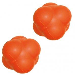 Pro's Pro Reaktionsball 10 cm, hart, orange, aus Gummi