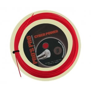 Pro's Pro Tennissaite 12 m Polyester Cyber Power 1,30 mm rot