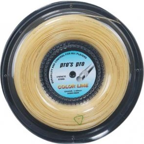 Pro's Pro Tennissaite 200 m Synthetik Color Line natur 1,40 mm