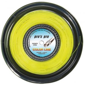 Pros Pro Tennissaite 200 m Synthetik Color Line neon-gelb 1.40-mm
