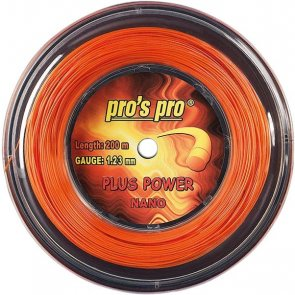 Pro's Pro 200-m-Tennissaite Plus Power 1,28 mm orange Deutsche Polyestersaite