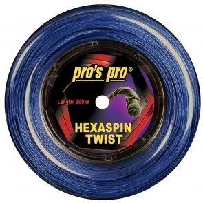 Pros Pro Deutsche Polyester Tennissaite Hexaspin Twist 1.30 200 Meter signal-blau