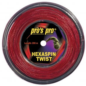 Pros Pro Deutsche Polyester Tennissaite Hexaspin Twist 1.25 200 Meter rot