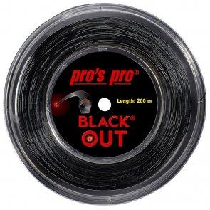 Pro's Pro Deutsche Polyestersaite Blackout 200 m 1,24 mm schwarz
