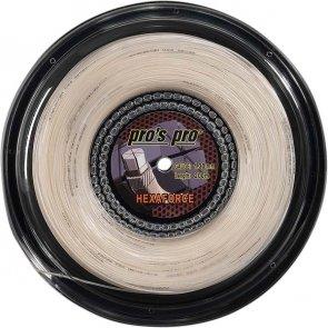 Pro's Pro Tennissaite 200 m Synthetik Hexaforce 1,30 mm weiss sechseckig