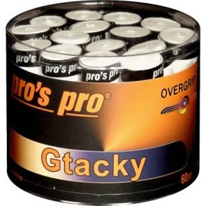 Pro's Pro Gtacky Griffband 0,5 mm Saugfaehig Vibrationsdaempfend 60er weiss