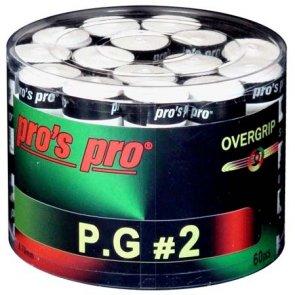 Pro's Pro Overgrips 60er box P.G. 2 0,70 mm weiss perforiert