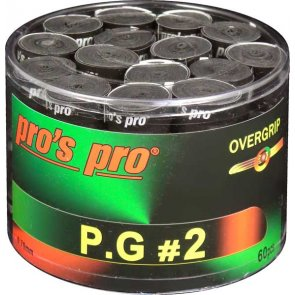Pro's Pro P.G. 2 Griffband griffig tacky perforiert 0,7 mm 60er Box schwarz