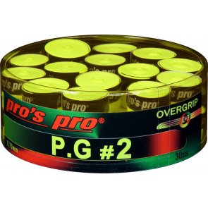 Pro's Pro P.G. 2 Griffband griffig tacky perforiert 0,7 mm 30er Box lime