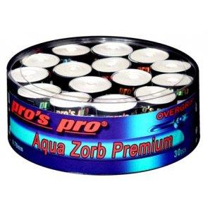 Pro's Pro Overgrips 30er Box Aqua Zorb Premium 0,70 mm weiss trocken