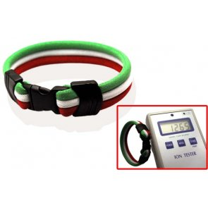 Pro's Pro Ionen Power Armband grün/weiß/rot Small