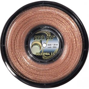 Pro's Pro Tennissaite 200 m Synthetik Gold Spiral I rose gold-spiral 1,30 mm