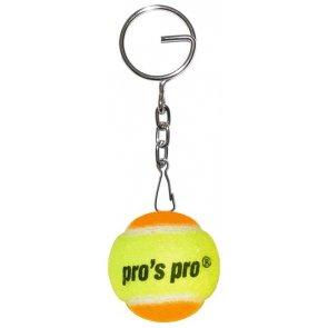 Pro's Pro Schlüsselanhänger Tennisball gelb/orange Filz