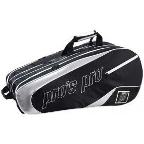 Pro's Pro 12-Racketbag schwarz/silber