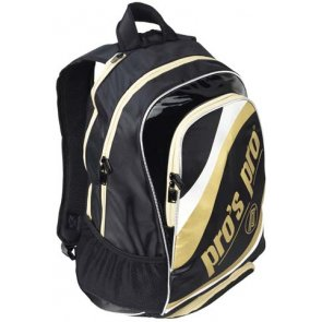 Pro's Pro Tennisrucksack schwarz/gold