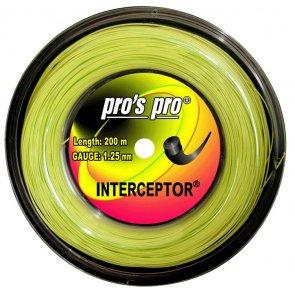 Pro's Pro 200-m-Tennissaite Interceptor 1,25 mm lime Deutsche Polyestersaite