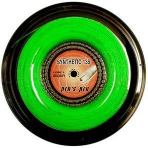 Pro's Pro Tennissaite 200 m Synthetic 1,35 mm grün multifil