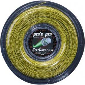 Pro's Pro Tennissaite 200 m Synthetik Clay Court Plus 1,30 mm honig spiral-schwarz