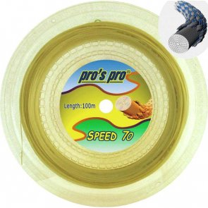 Pro's Pro Speed 70 100 m Badmintonsaite natur 0,68 mm