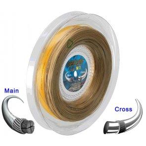 Pro's Pro Tennissaite 2 x 100 m Hybrid N 1 Pure Aramid 1,20 mm ocker Super Power 1,30 mm gold