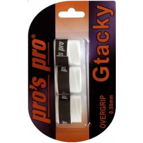Pros Pro Gtacky Griffband 0,5mm Saugfaehig Vibrationsdaempfend 3er Weiss