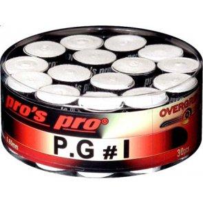 Pro's Pro Overgrips P.G 1 0,60mm 30er Box weiß klebrig