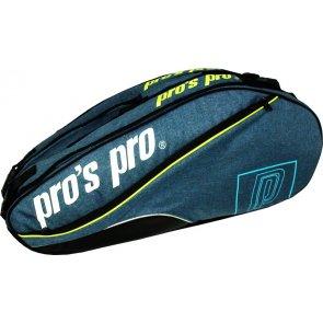 pros pro 8-Racketbag blau-melé