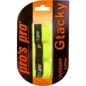 Pro's Pro Gtacky Griffband 0,5 mm Saugfaehig Vibrationsdaempfend 3er lime