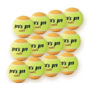 Pro's Pro Soft Tennisbälle für Kinder 12er gelb-orange